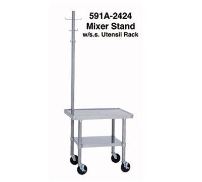 "Duke 592A-3024 30"" Mixer Table w/ All Stainless Undershelf Base, Shipped Knocked Down, 24""D"