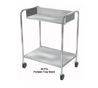 "Duke 96 31"" Portable Tray Stand, 4"" Swivel Casters, Holds 200-Trays, Stainless"