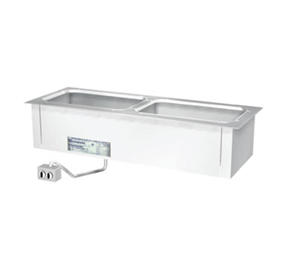 "Duke ADI-2ESL 2401 46.25"" Hot Food Drop In Unit w/ Drain & (2) 12x20"" Wells, 240/1 V"