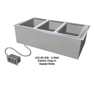"Duke ADI-5E-SW 120 74.25"" Hot Food Drop In Unit w/ Drain & (5) 12x20"" Sealed Wells, 120 V"