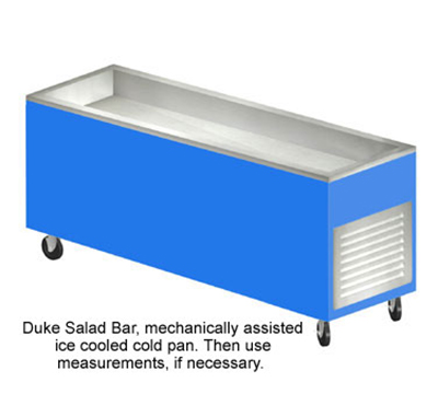 "Duke AHC-6M 217101 88"" Salad Bar w/ 5"" Deep Ice Pan & Removable Grill, Semi-Gloss Black"
