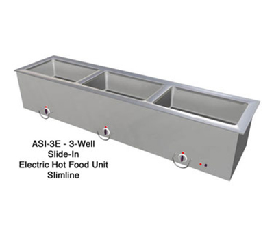 "Duke ASI-3ESL 2081 68.25"" Hot Food Slide In Unit w/ (3) 12x20"" Wells, Stainless Top, 208/1 V"