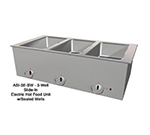 "Duke ASI-4E-SW 2401 60.25"" Hot Food Slide In Unit w/ Drain & (3) 12x20"" Sealed Wells, 240/1 V"