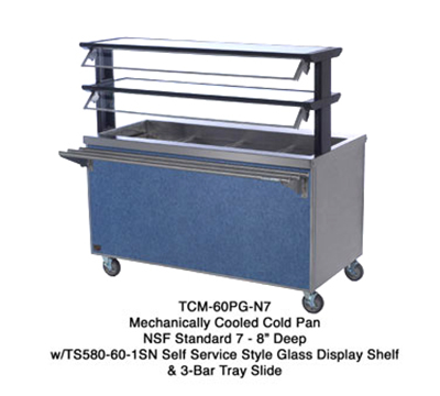 "Duke TCM-60SS-N7 120 60"" Mobile Cold Food Unit w/ Stainless Body & Undershelf, 8"" D, 120 V"