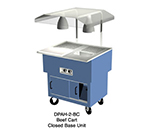 Duke DPAH-2-BC 240 Portable Beef Cart w/ Au Jus & Spillage Pan, Carving Board, Meat Spike, 240/1 V