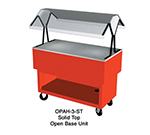 "Duke OPAH-3-ST 217101 44-3/8"" Solid Top Portable Buffet w/ Open Bottom Shelf, Semi-Gloss Black"