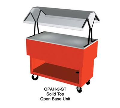 "Duke OPAH-4-ST 217101 58-3/8"" Solid Top Portable Buffet w/ Open Bottom Shelf, Semi-Gloss Black"