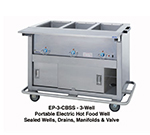 "Duke EP-3-CBSS 2081 46"" Portable Steamtable, Stainless Body, Undershelf & 3-Sealed Well, 208/1 V"