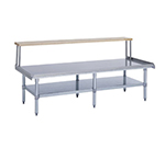 Duke ES-7202A-9630 Open Base Equipment Stand w/ Stainless Top, Undershelf, Legs, 96x30x24.25""
