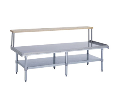 Duke ES-7202A-8436 Open Base Equipment Stand w/ Stainless Top, Undershelf, Legs, 84x36x24.25""
