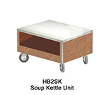 Duke HB2SK 7008-43 Soup Kettle Unit w/ Paint Grip Body & Bottom Shelf, Acajou Mahogany