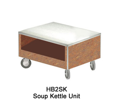 Duke HB2SK 7152-58 Soup Kettle Unit w/ Paint Grip Body & Bottom Shelf, Northern Oak