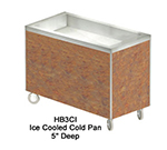 "Duke HB5CI 7152-58 74"" Cold Food Unit w/ Stainless Top & Ice Pan, D, Northern Oak"