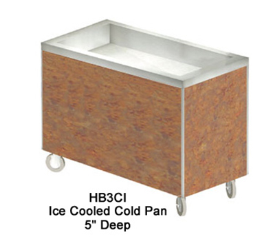 "Duke HB3CI 7152-58 46"" Cold Food Unit w/ Stainless Top & Ice Pan, D, Northern Oak"