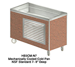 "Duke HB3CM-N7 120 46"" Cold Food Unit w/ Drain, Stainless Top & Ice Pan, 8"" D, 120 V"