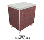 "Duke HB2ST 7008-43 32"" Solid Top Unit w/ Stainless Top & Paint Grip Body, Acajou Mahogany"