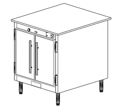 Duke 1151 2083 Reach In Heated Holding Cabinet w/ 1-Thermostat, Legs, 208/3 V