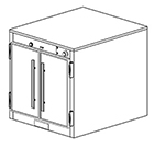 Duke 1551 2081 Reach In Heating Holding Cabinet, 1-Thermostat Per Compartment, 208/1 V