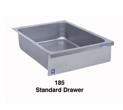 Duke 185LK Standard Drawer, Stainless Face Plate, On Roller Slides, Lock & Keys