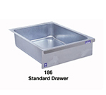 Duke 186 Standard Drawer, Stainless Face Plate, On Roller Slides, Galvanized
