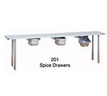 Duke 201 Space Bin w/ Roller Slides & Removable Stainless Brackets