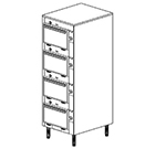 Duke 2304P 2083 Pass Thru Heated Cabinet, 1-Thermostat Per 4-Compartment, Legs, 208/3 V
