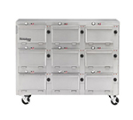 "Duke 2309P 120 Pass Thru Heated Cabinet, 1-Thermostat Per 9-Compartment, 9X14X23.5"", 120 V"
