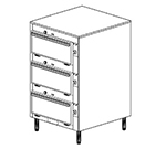 Duke 2453P 120 Pass Thru Heated Cabinet, 1-Thermostat Per 2-Compartment, Legs, 120 V