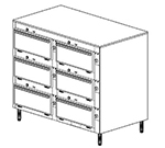Duke 2456P 2083 Pass Thru Heated Cabinet, 1-Thermostat Per 6-Compartment, Legs, 208/3 V