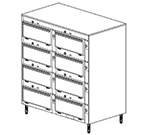 "Duke 2458P 120 Pass Thru Heated Cabinet, (6) 12 x 20 x 2"" Pans Per Compartment, Legs, 120 V"