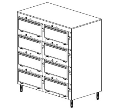 "Duke 2458P 2401 Pass Thru Heated Cabinet, (6) 12 x 20 x 2"" Pans Per Compartment, Leg, 240/1 V"