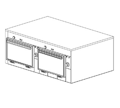 "Duke 2602P 2083 Pass Thru Heated Cabinet, 1-Thermostat Per 2-Compartments, 9x14x23.5"", 208/3 V"