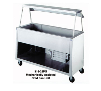 "Duke 316-25PG 120 60"" Cold Food Unit w/ Deep Ice Pan, Paint Grip Body & Shelf, 120 V"