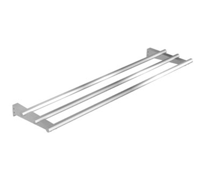 Duke A3BTS-FX-32 32-in Tray Slide w/ Fixed Brackets & Capped Ends for 2-Well Units, Stainless