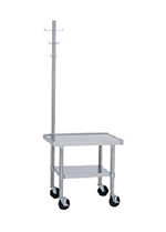 "Duke 491A-2424 24"" Mixer Table w/ Galvanized Undershelf Base, Shipped Knocked Down, 24""D"