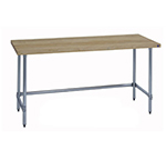 "Duke 7123-2484 84"" Work Table w/ Galvanized Legs & Frame, Hardwood Top, 24"" Deep"