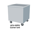 "Duke ACU-32SS 24.5 Corner Unit w/ 6"" Legs & Adjustable Feet, All Stainless"