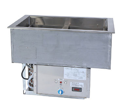 "Duke ADI-3HC 46.3"" Hot Cold Food Drop In Unit w/ Drain & (3) 10"" Deep Pan, Wet Heat"