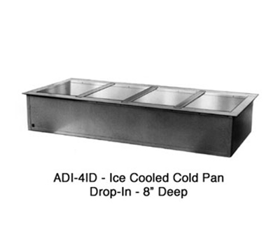 "Duke ADI-2ID 32"" Drop-In Cold Well w/ (2) Pan Capacity, Ice Cooled"