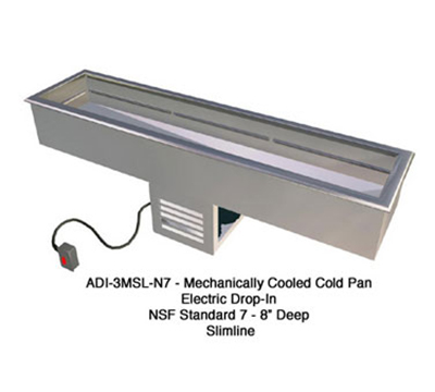 "Duke ADI-2MDSL-N7 48.75"" Drop- In Refrigerator w/ (2) Pan Capacity, Forced Air Cooled, 120v"