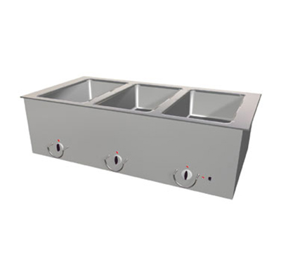 "Duke ASI-1E-SW 240 18.25"" Hot Food Slide In Unit w/ Drain & (1) 12x20"" Sealed Well, 240/1 V"