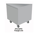 Duke ATU-45PG 217101 Triangle Unit w/ Stainless Top, 45-Degree Corner, Semi-Gloss Black