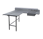 Duke SDSD-120R 120-in Supreme Dishlanding Type Soiled Table w/ 10-in Splash, Right-Side