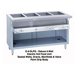 "Duke E-4-DLSS 120 60"" Steamtable w/ Drains & 4-Stainless Sealed Wells, 34"" Wide, 120 V"
