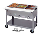 Duke EP303SW 2401 Portable Steamtable w/ 3-Sealed Hot Wells & Carving Board, 240/1 V