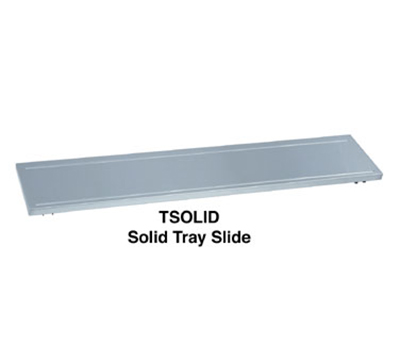 "Duke FSOLID-HD-3 44.37"" Tray Slide w/ Hinged Brackets & Rubbing Tracks for 3-Well Units"