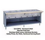 "Duke G-6-CBSS NG 88"" Steamtable w/ 6-Dry Heat Wells, Stainless Body & Undershelf, NG"