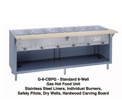 "Duke G-4-CBSS LP 60"" Steamtable w/ 4-Dry Heat Wells, Stainless Body & Undershelf, LP"