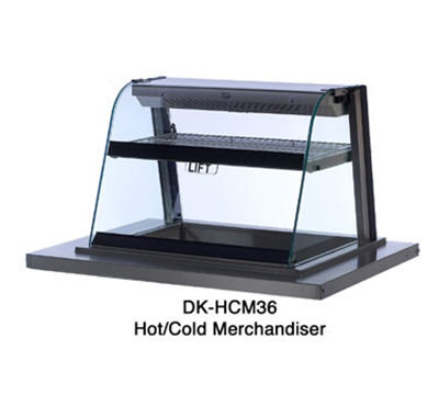 Duke DK-HCM36 Drop In Merchandiser w/ Convection Heated Top & Cooled Lower Shelf
