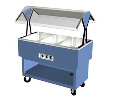 "Duke OPAH-3-HF 2401 44-3/8"" Hot Food Portable Buffet w/ 3-Hot Wells, Stainless Top, 240/1 V"